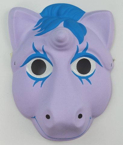Vintage My Little Pony Halloween Mask Hasbro 1986 Unicorn 80's 1980s