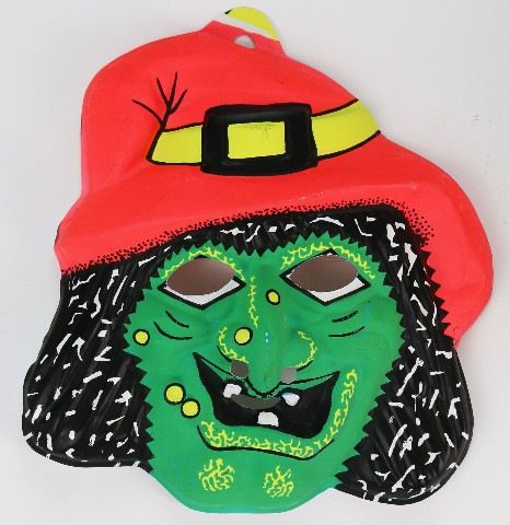 Vintage Wicked Witch Halloween Mask Fun World Monster 1970's 1980's Y086