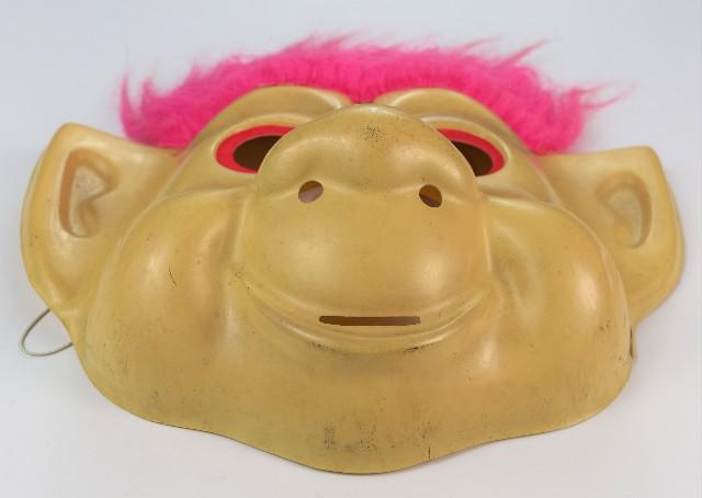 Vintage Troll Doll Halloween Mask Rubies 1992 Y085