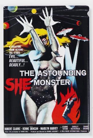 The Astounding She Monster Movie Poster FRIDGE MAGNET 1950's Sci Fi