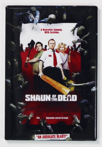 Shaun of the Dead Movie Poster FRIDGE MAGNET Comedy Funny Zombie