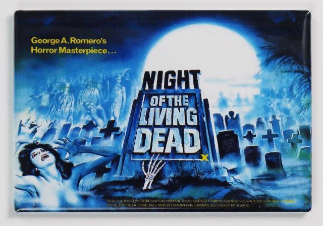 Night of the Living Dead Movie Poster FRIDGE MAGNET Romero Zombie Horror