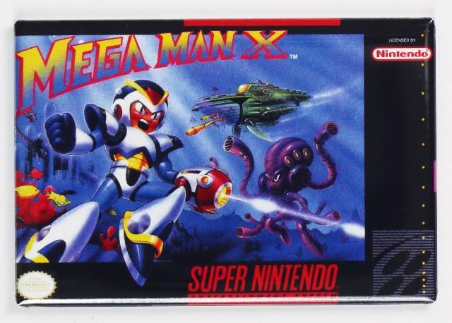 snes  Mega Man X Video Game FRIDGE MAGNET Nintendo Arcade NES