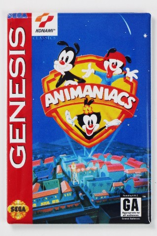 Sega Genesis Animaniacs Video Game FRIDGE MAGNET Arcade NES 1990s