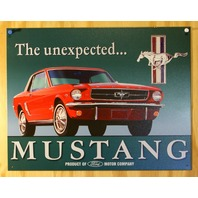 Ford Mustang The Unexpected Tin Sign Classic Muscle Car Auto Garage Mechanic D102