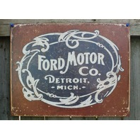 Ford Motor Co Detroit Michigan Tin Sign F Series Mustang Garage Man Cave E133