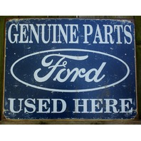 Ford Genuine Parts Tin Sign Ford Truck Car Collectors Garage Mancave