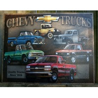 Chevy Trucks Heritage Truck S Series Tin Metal Sign Garage Man Cave Business E134