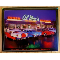 Al Macs Diner Resturant Tin Sign Classic Chevy Ford Cars Garage Man Cave