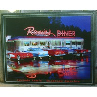 Rosie's Diner Tin Sign Classic Chevy Ford Cars Garage Man Cave Business F54