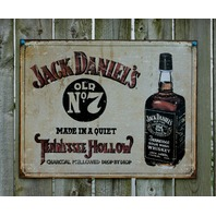 Jack Daniels Tennessee Whiskey NO 7 Tin Sign Garage Man Cave Alcohol Bar Pub