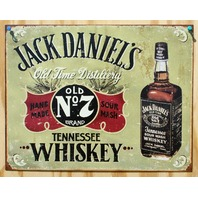 Jack Daniels Tennessee Whiskey  NO 7 Tin Sign Garage Man Cave Alcohol Bar