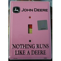 PINK John Deere Light Switch Plate Cover Country Farm Equipment Tractor Ladies