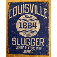 Louisville Slugger Tin Sign MLB Baseball Bat Kentucky Yankees Red Sox Dodger E124