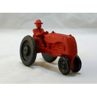 Cast Iron Red Farm Tractor Toy International Harvester IH Country Decor Farming