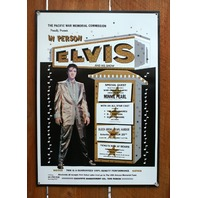In Person Elvis And Minnie Pearl Tin Metal Sign Elvis Presley 50's Music F104