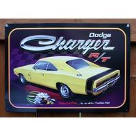 Dodge Charger Tin Metal Sign Super Bee Scat Pack R/T Dart Challenger RT V8 F98