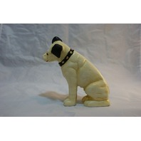Cast Iron Dog Bank Terrier RCA Dog Vintage Styled Hand Painted Mantle Piece