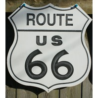 Route 66 Tin Metal Sign American USA Street Rod Dragster Man Cave Garage RT D63