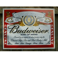 Budweiser King of Beers Label Tin Sign Bar Garage Man Cave Business Bottles