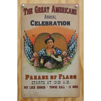 The Great Americans Parade Of Flags Tin Sign Patriotic American Flag USA F41