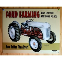 Ford Farming 50s Tractor New Tin Metal Sign Red & White Model 1903-1953 F39