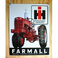 McCormick Farmall Tin Sign Chicago USA Tractor International Harvester IH B105
