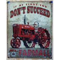Farmall Tin Sign Farm Tractor Country Barn International Harvester IH
