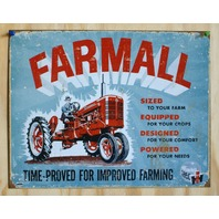 Farmall International Harvester Tin Sign Farm Tractor Country Garage Barn IH