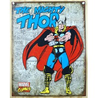 Thor Marvel Comics Tin Sign The Avengers Spiderman Hulk Captain America D50
