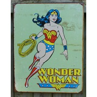 DC Comics Wonder Woman Tin Sign Super Hero Lasso Red Boots Amazing Amazon D21