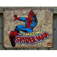 The Amazing Spider-Man Marvel Comics Tin Sign Comic Book Superhero Spiderman