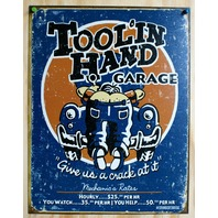 Tool N Hand Garage Tin Sign Man Cave Mechanic Hot Rod Ford Chevy Dodge Auto D98
