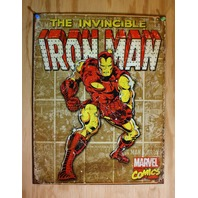 The Invincible Iron Man Tin Metal Sign Marvel Comics Avengers Bar Stark Hulk F7