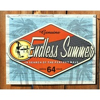 Endless Summer Tin Sign Classic Movie Surfing Surf Board Beach California E106