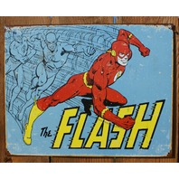 The Flash Tin Sign Detective Comics DC Comic Book Justice League Super Hero D41