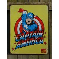 Captain America Marvel Comics Tin Metal Sign Comic Book Avengers D92