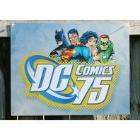 DC Comics 75 Years Tin Sign Cave Superman Batman Green Lantern Wonder Woman