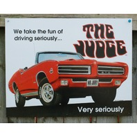 Pontiac GTO The Judge Tin Sign Man Cave Garage Hot Rod Muscle Car Classic V8