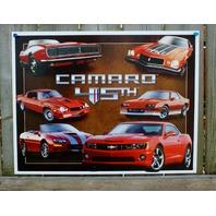 Chevy Camaro 45th Tin Sign Man Cave Garage Chevrolet RS IROC Z28 V8 350 Car