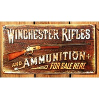 Winchester Rifles and Ammunition  For Sale Here Tin Sign Gun Trap Shoot Shot E97