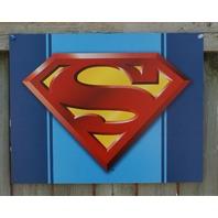 Superman Logo DC Comics Tin Sign Comic Book Superhero Man Cave Clark Kent NY
