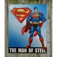 Superman Man of Steel DC Comics Tin Sign Comic Book Superhero Man Cave