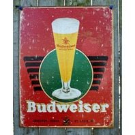 Budweiser Anheuser Busch Tin Sign Man Cave Garage Bar Beer Alcohol Bud Lite 15A