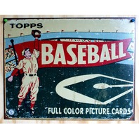 Topps Wax Pack Baseball Cards Tin Sign MLB Reds Yankees Tigers Angels Sox E112