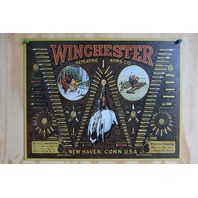Winchester Ammo Tin Sign Duck Bird Trap Shoot Ammo Shells Gun Hunting