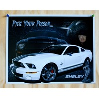 Ford Shelby Mustang GT 500 Tin Sign Garage Hot Rod Drag Racer V8 Cobra Cave