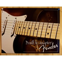 Fender Guitar Built to Inspire Tin Sign Telecaster Amp Stratocaster Strat