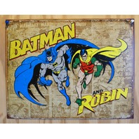 Batman And Robin Tin Sign DC Marvel Comics Comic Book Dark Knight Joker D54