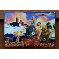 Bombshell Beauties Tin Metal Sign Pin Up Bar Alcohol Beer Liquor 1950's B59